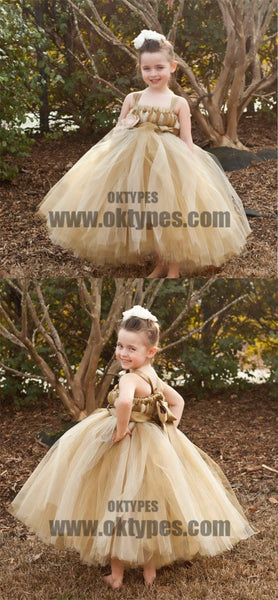 Brown Tulle Pixie Tutu Dresses, Popular Flower Girl Dresses, Free Custom Dresses, TYP0527