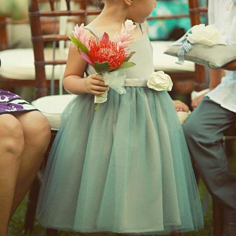 Green Cute Flower Girl Dresses, Cheap Short Flower Girls Dresses, TYP1250