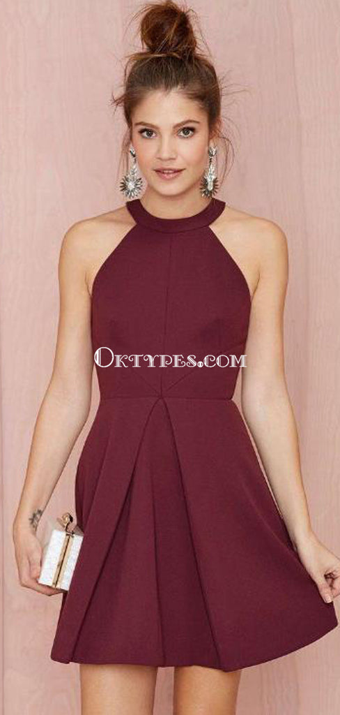 Unique Halter Cheap 2018 Homecoming Dresses Under 100, TYP1182