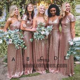 2018 Newest long floor length Sequin Bridesmaid Dresses, Pretty Bridesmaid Dresses, TYP0370