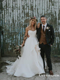 Elegant Sweetheart A-line Ivory A-line Long Bridal Gown Wedding Dresses, TYP1985