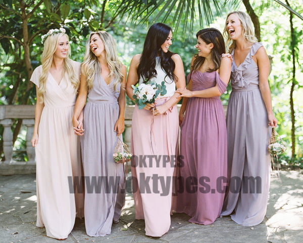 Long Floor Length Bridesmaid Dresses, Jersey Bridesmaid Dresses, Charming Bridesmaid Dresses, TYP0355