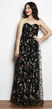 A-Line Sweetheart Neck Sleeveless Black Long Prom Dresses with Appliques, TYP1885