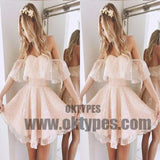 Strapless Off Shoulder Lace Short Homecoming Prom Dresses, Affordable Short Party Prom Sweet 16 Dresses, Perfect Homecoming Cocktail Dresses, TYP0618