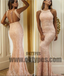 Long Mermaid Prom Dresses, Pink Lace Prom Dresses With Little Beading, Grecian Prom Dresses, Backless Prom Dresses, TYP0228
