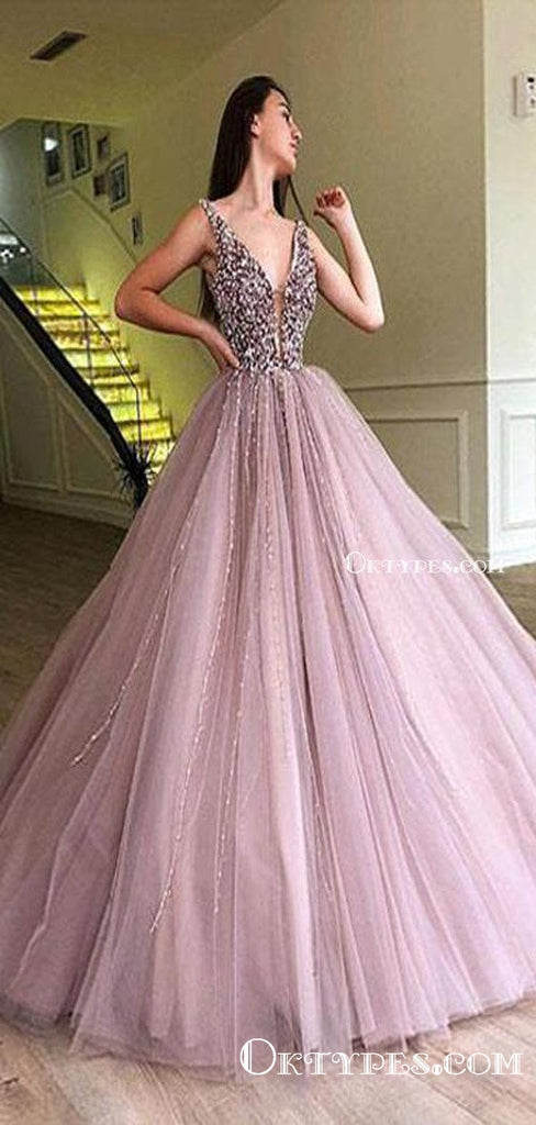 2021 A-line Elegant Sparkly Gorgeous Princess Prom Gown, Purple Stunning Prom dresses, wedding Gown, TYP1162