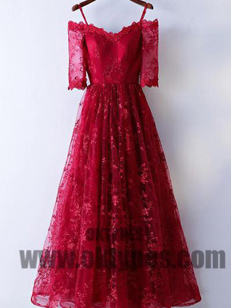 5b436d336f Red Long Floor Length Prom Dresses