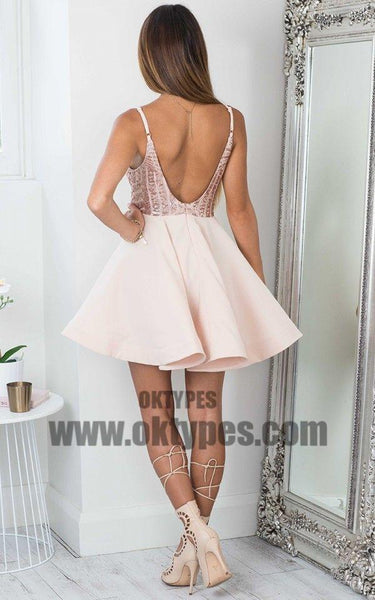 Cheap Simple Sparkly Sequin Sexy Cute Homecoming Dresses 2018, TYP0661