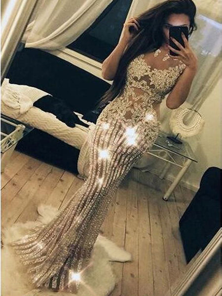 2019 Sparkly Beading Charming Fashion Stunning Gorgeous High Quality Prom Dresses, Evening Dresses, TYP1160