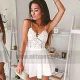 Sexy Short Prom Dress,White Homecoming Party Dress Girls, Graduation Gowns, TYP0761