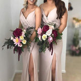 Spaghetti Strap Simple Bridesmaid Dresses Plus Size Bridesmaid Dresses, TYP1235
