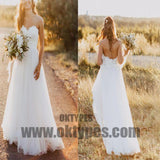 Sweetheart Lace A-line Cheap Custom Long Wedding Bridal Dresses, TYP0498