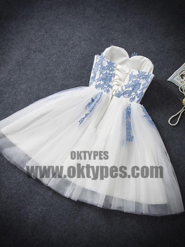 2018 Homecoming Dress, Sexy A-line Strapless Short Prom Dress Party Dress, TYP0686