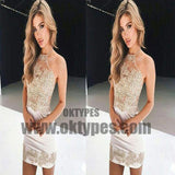 Cheap Sexy Mermaid Lace Halter Tight Homecoming Dresses 2018, TYP0662