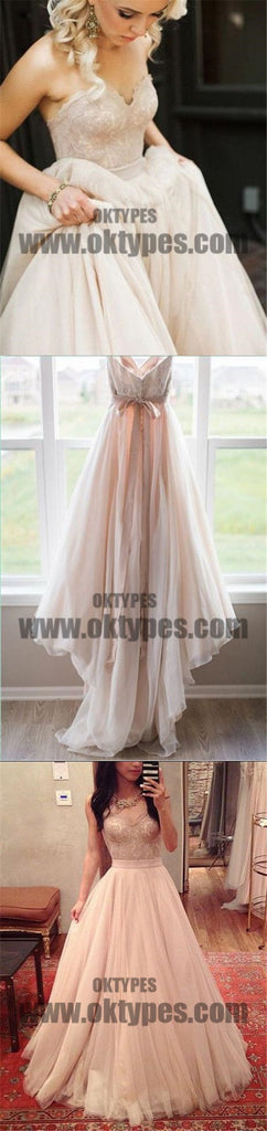 2018 Wedding Dresses, Sweetheart Blush Bowknot Tulle with Lace Wedding Dresses, TYP0681