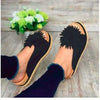 Cute Wide Flat Comfortable Embellished Sandals
