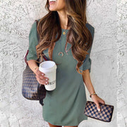 Simple Short Sleeve Shift Dress