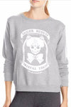 Skull Print Round Collar Long Sleeves Regular Sweatshirt