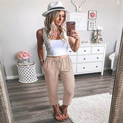 Summer Plus Size Elastic Casual Pegged Pants