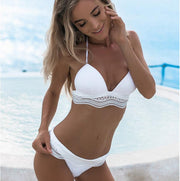 Sling Lace Strappy Two Pieces Bikini