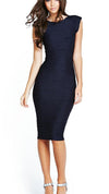 Solid Bodycon Sleeveless Scoop Long Dress