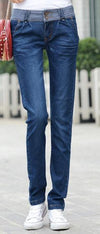 Straight High Waist Long Harem Denim Pants - Meet Yours Fashion - 1