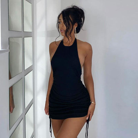 Sexy Sleeveless Blackless Bodycon Party Dress