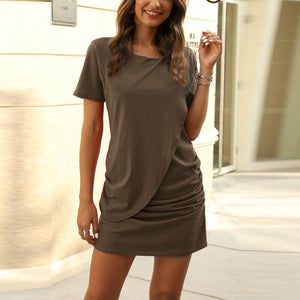 Short Sleeve Loose Short Dress