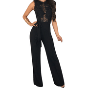 Lace See Through Wide Leg Jumpsuits