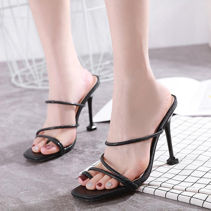 Square Toe Leather Bunions High Heels