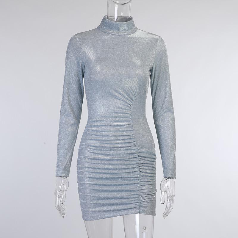 Long Sleeve Sparkle Party Dress
