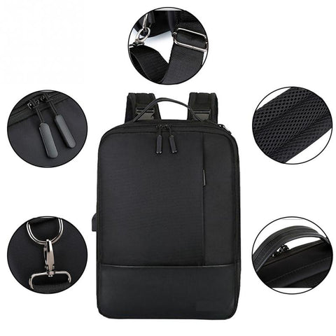 Waterproof USB Professional Laptop Men's Backpack Casual notebook Male sports Travel Bag pack For Men Large Capacity