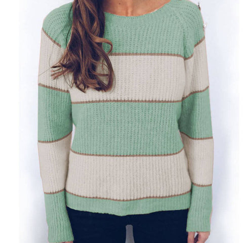Crewneck Colorblock Knit Sweater
