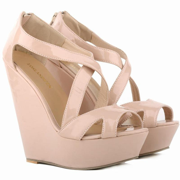 Thick Bottom Wedges Women's Peep-Toe High-Heeled Sandals
