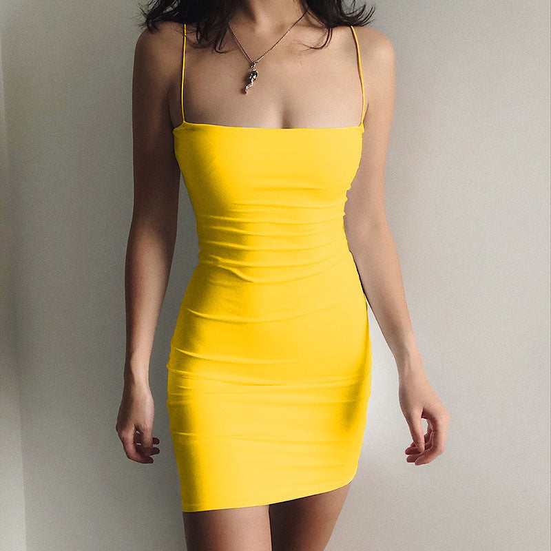 Sexy Bodycon Short Sling Dress