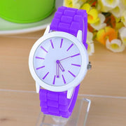 Best Gift Classic Quartz Ladies Jelly Silicone Wrist Watch