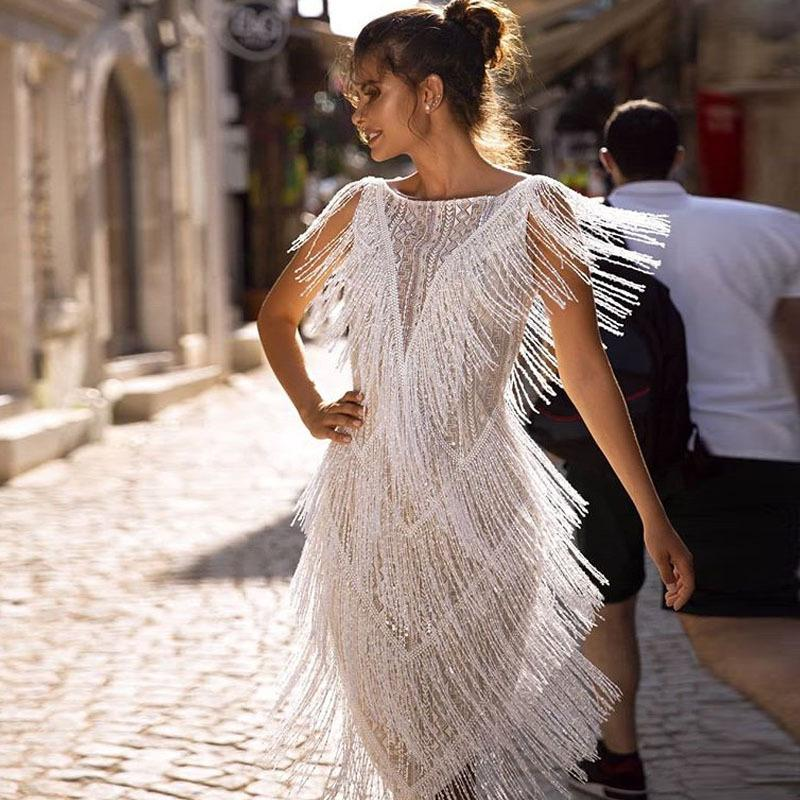 Fringed Slim Dress