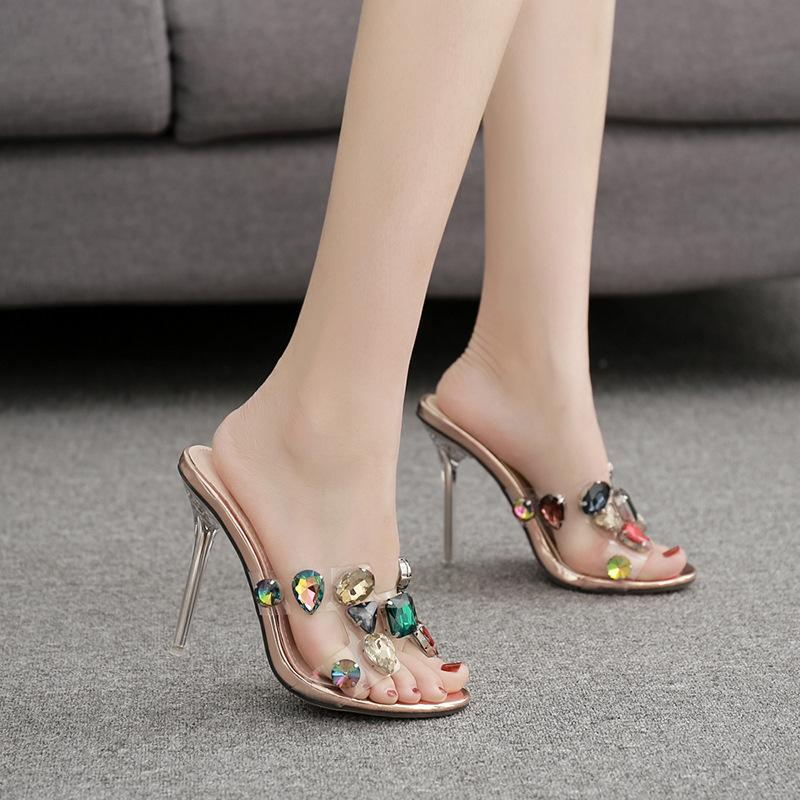 Colorful Rhinestone Crystal slippers
