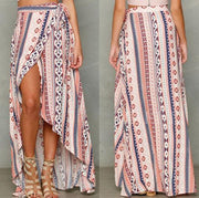 New Tied To The Waist Chiffon Long Skirts