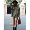Stripe Loose Long Sleeve Short Dress - Meet Yours Fashion - 2