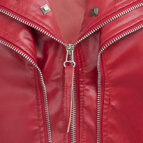 Punk Rivet Zipper Moto Jacket