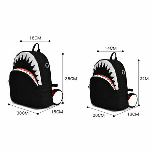 Cute Baby School Bag Cartoon Shark Backpack Student Boy Girl Universal Casual Shoulder Bag