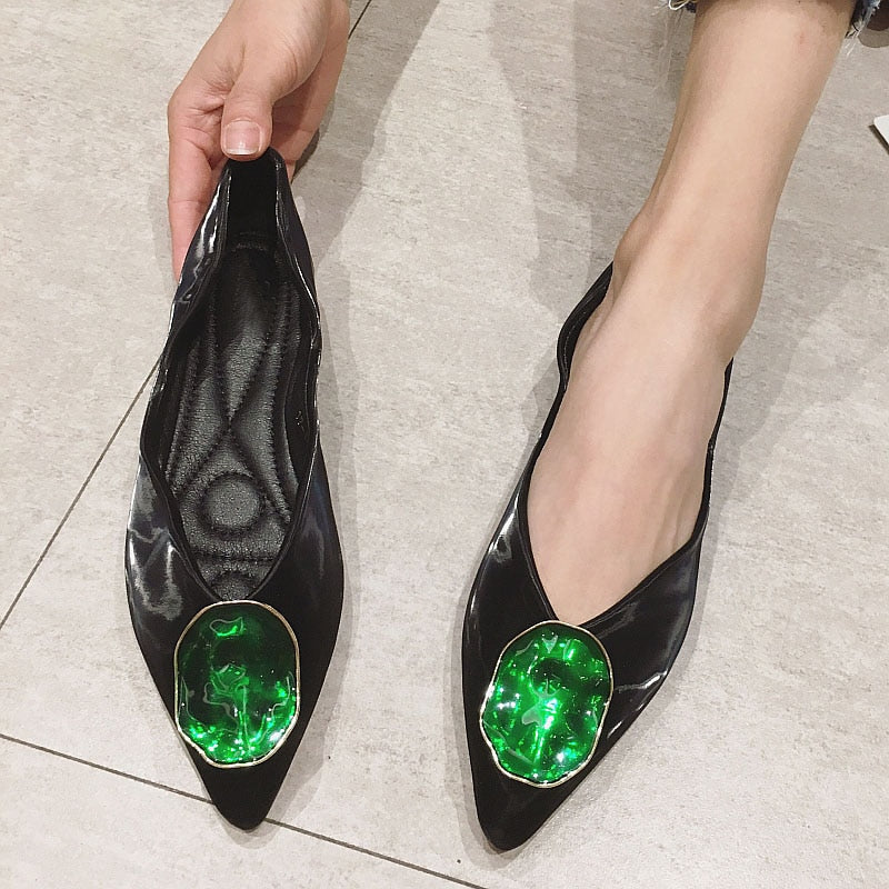 Slip on Satin Pointed Toe Flats