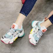 Breathable Rainbow Color Chunky Sneakers