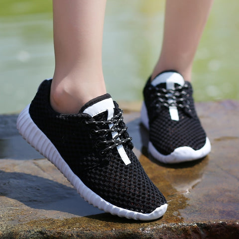 Lace Up Cutout Breathable Lightweight Sneakers