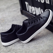 Lace Up Flat Plain Round Toe Sneakers