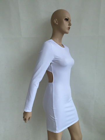 Open Cross Bandage Back Bodycon Mini Dress - Shoes-Party - 4