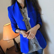 Shoulder Pads Long Sleeves Slim Short OL Blazer