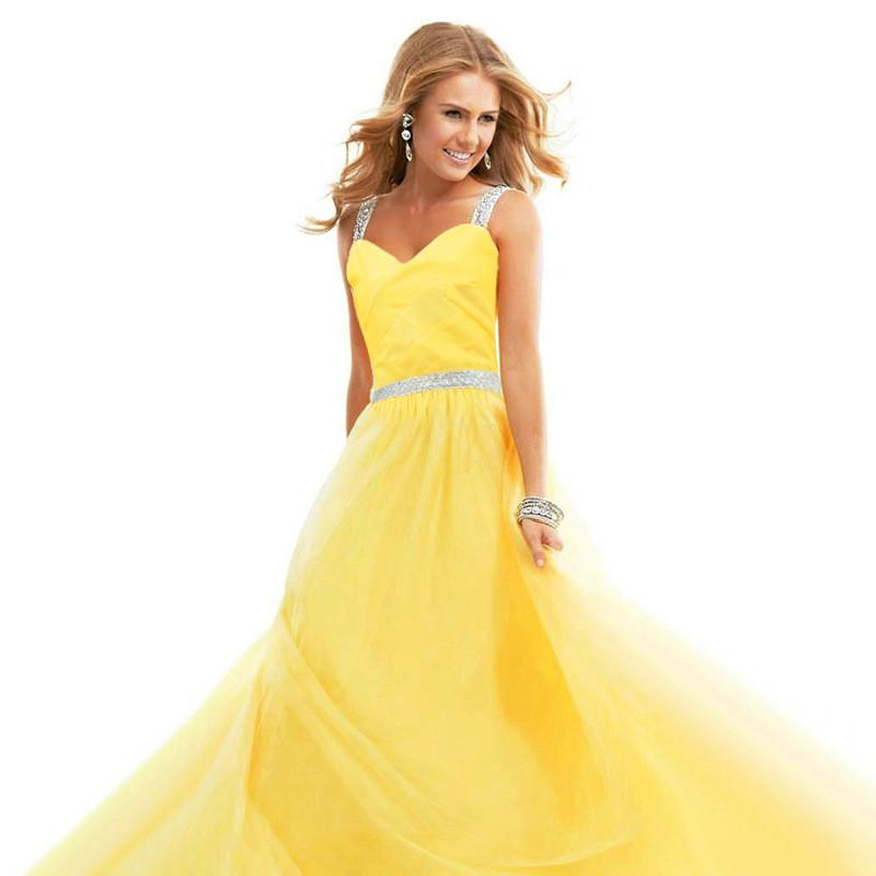 Chiffon Spaghetti Strap Pure Color Long Party Dress - Meet Yours Fashion - 1