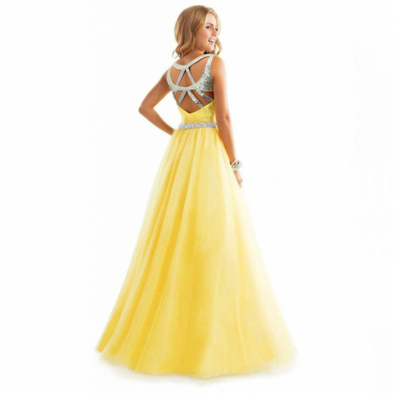 Chiffon Spaghetti Strap Pure Color Long Party Dress - Meet Yours Fashion - 2